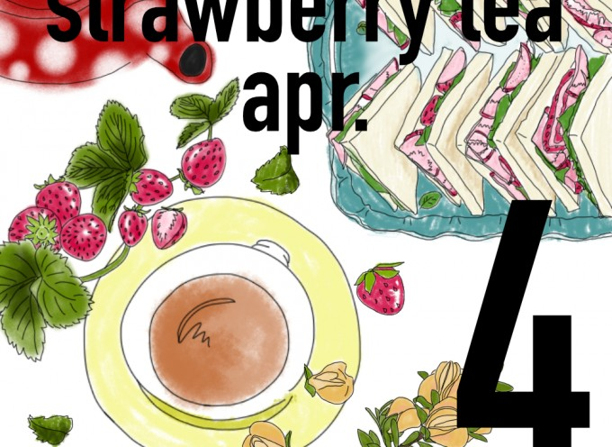 "4月のartifata cafe""Strawberry white tea"""